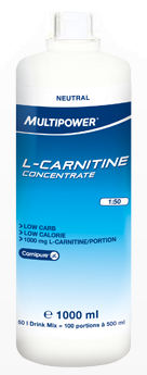 L-Carnitine Concentrate 1L - жидкий карнитин от Multipower на ...