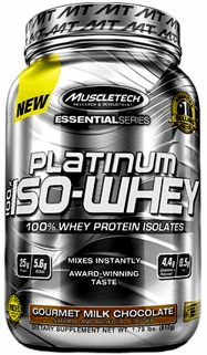 Изолят Platinum 100% ISO-Whey Essential Series от Muscle Tech