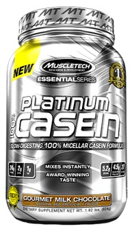 Казеин Platinum 100% Casein Essential Series от MuscleTech