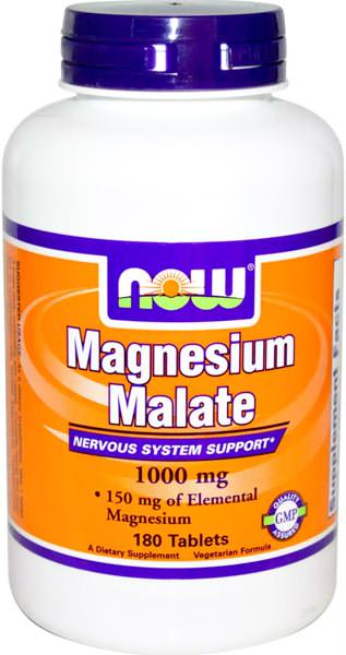 Магний Magnesium Malate 1000mg от NOW