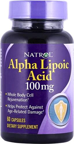 Альфа-липоевая кислота Natrol Alpha Lipoic Acid 100mg