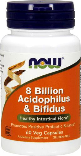 Пробиотики NOW 8 Billion Acidophilus Bifidus
