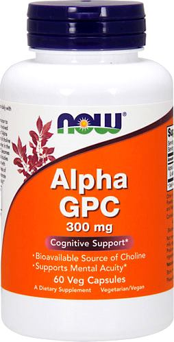 Холин NOW Alpha GPC 300mg