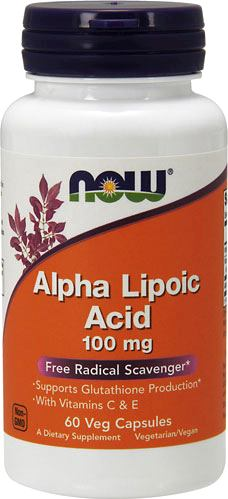 Альфа-липоевая кислота NOW Alpha Lipoic Acid