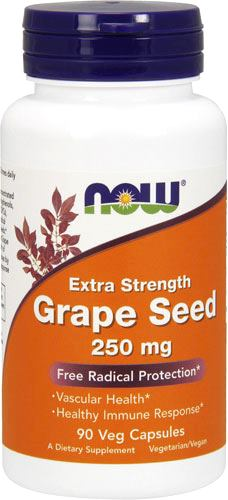 Антиоксиданты NOW Grape Seed 250mg