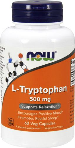 Аминокислота триптофан NOW L-Tryptophan 500mg