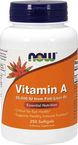 Витамин А NOW Vitamin A 25000IU from Fish Liver Oil