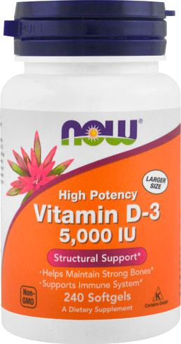 Витамин Д3 NOW Vitamin D-3 5000 IU
