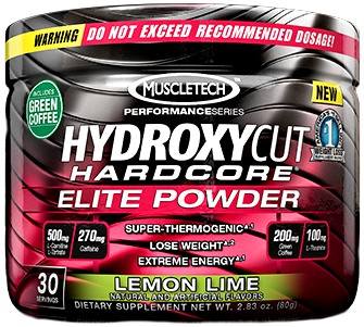 Жиросжигатель Hydroxycut Hardcore Elite Powder Performance Series от MuscleTech