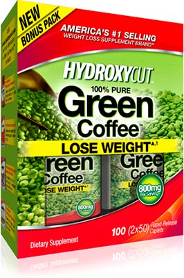 Жиросжигатель Hydroxycut 100% Pure Green Coffee от MuscleTech