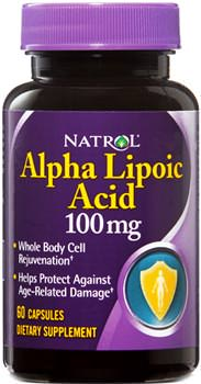 Альфа липоевая кислота Alpha Lipoic Acid от Natrol