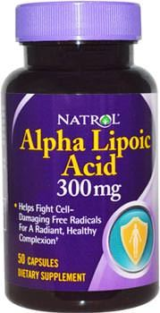 Альфа-липоевая кислота Alpha Lipoic Acid от Natrol