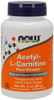 Ацетил-карнитин NOW Acetyl-L-Carnitine Pure Powder