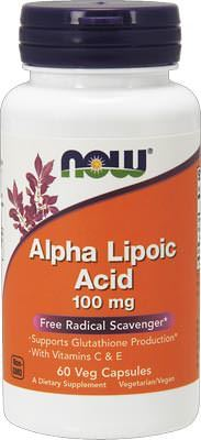Альфа-липоевая кислота Alpha Lipoic Acid от NOW