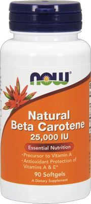 Бета-каротин Natural Beat Carotene 25000IU от NOW