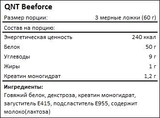 Состав QNT Beeforce
