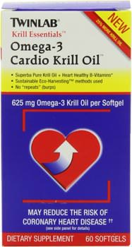 Омега-3 Krill Essentials Omega-3 Cardio Krill Oil от Twinlab