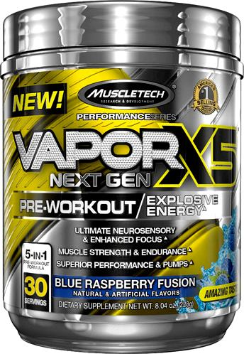Предтренировочный комплекс MuscleTech Vapor X5 Next Gen Pre-Workout Performance Series