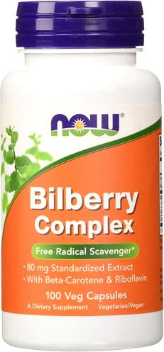 Антиоксиданты NOW Bilberry Complex 80mg