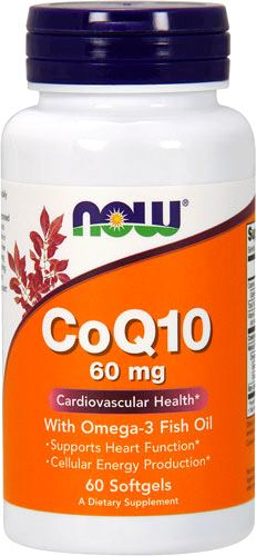 Коэнзим Q10 с омегой-3 NOW CoQ10 60mg with Omega-3 Fish Oil