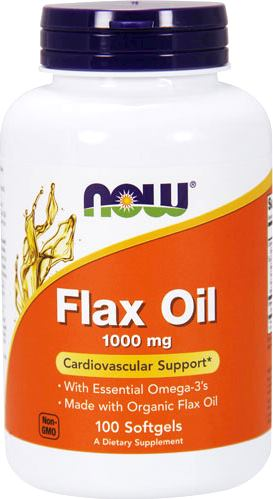 Омега-3 NOW Flax Oil 1000mg