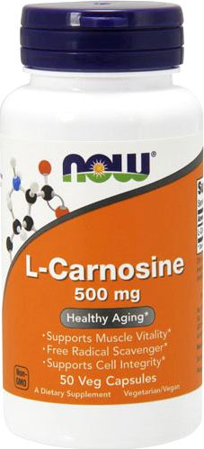 Карнозин NOW L-Carnosine 500mg