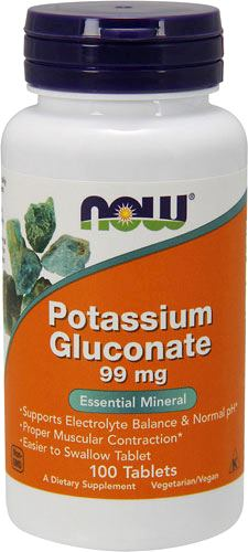 Калий NOW Potassium Gluconate 99mg
