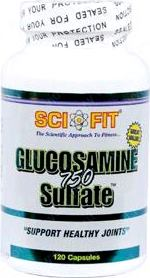 Глюкозамин хондроитин Sci Fit Glucosamine Sulfate 750mg 60 caps