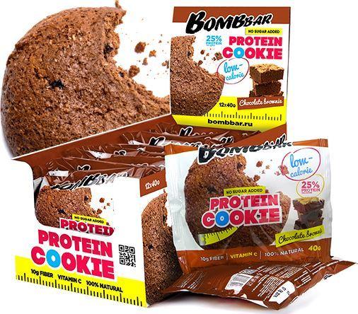 Низкокалорийное протеиновое печенье BombBar Protein Cookie Low Calorie
