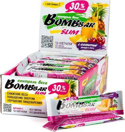 Протеиновые батончики BombBar Slim