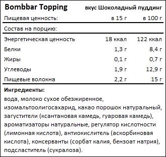 Состав Bombbar Topping