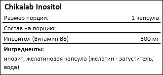Состав Chikalab Inositol