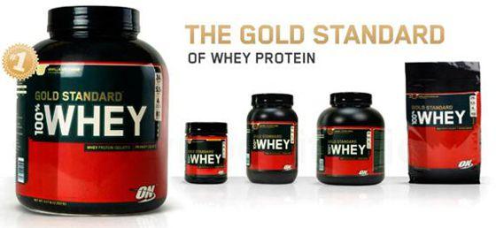 Линейка протеина 100% Whey Gold Standard разной фасовки