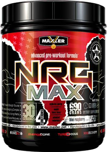 Предтренировочный комплекс NRG MAX от Maxler
