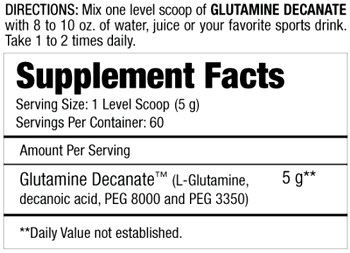 Состав GLUTAMINE DECANATE