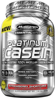 Казеин Platinum 100% Casein Essential Series от Muscle Tech