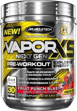 Предтренировочный комплекс Vapor X5 Next Gen Pre-Workout Performance Series от MuscleTech