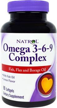 Омега-3 жирные кислоты Omega 3-6-9 Complex от Natrol