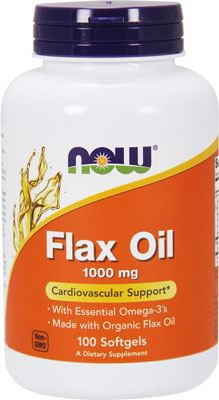 Льняное масло Flax Oil 1000mg от NOW