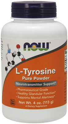 Тирозин L-Tyrosine Pure Powder от NOW