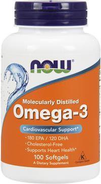 Жирные кислоты NOW Omega-3