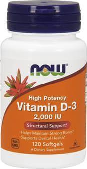 Витамин D3 Vitamin D3 2000 IU от NOW