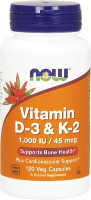 Витамины NOW Vitamin D-3 + K-2 1000IU 45mcg