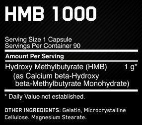 Состав HMB 1000mg
