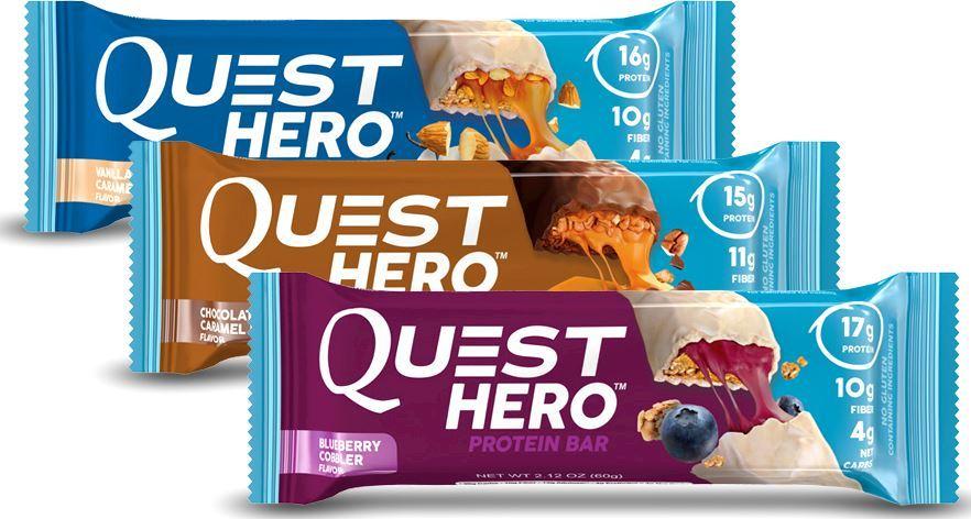 Протеиновые батончики Hero Bar от Quest