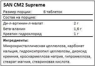 Состав CM2 Supreme от SAN