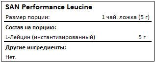 Состав SAN Performance Leucine