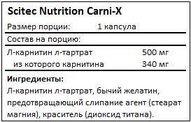 Состав Carni-X от Scitec Nutrition