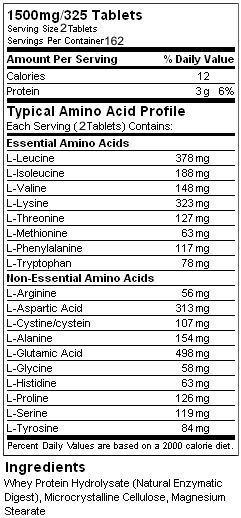 Состав Amino Gold 1500 мг 325 табс