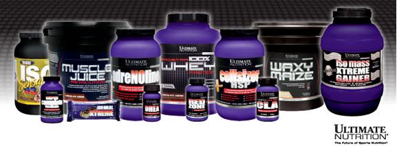 Продукция компании Ultimate Nutrition